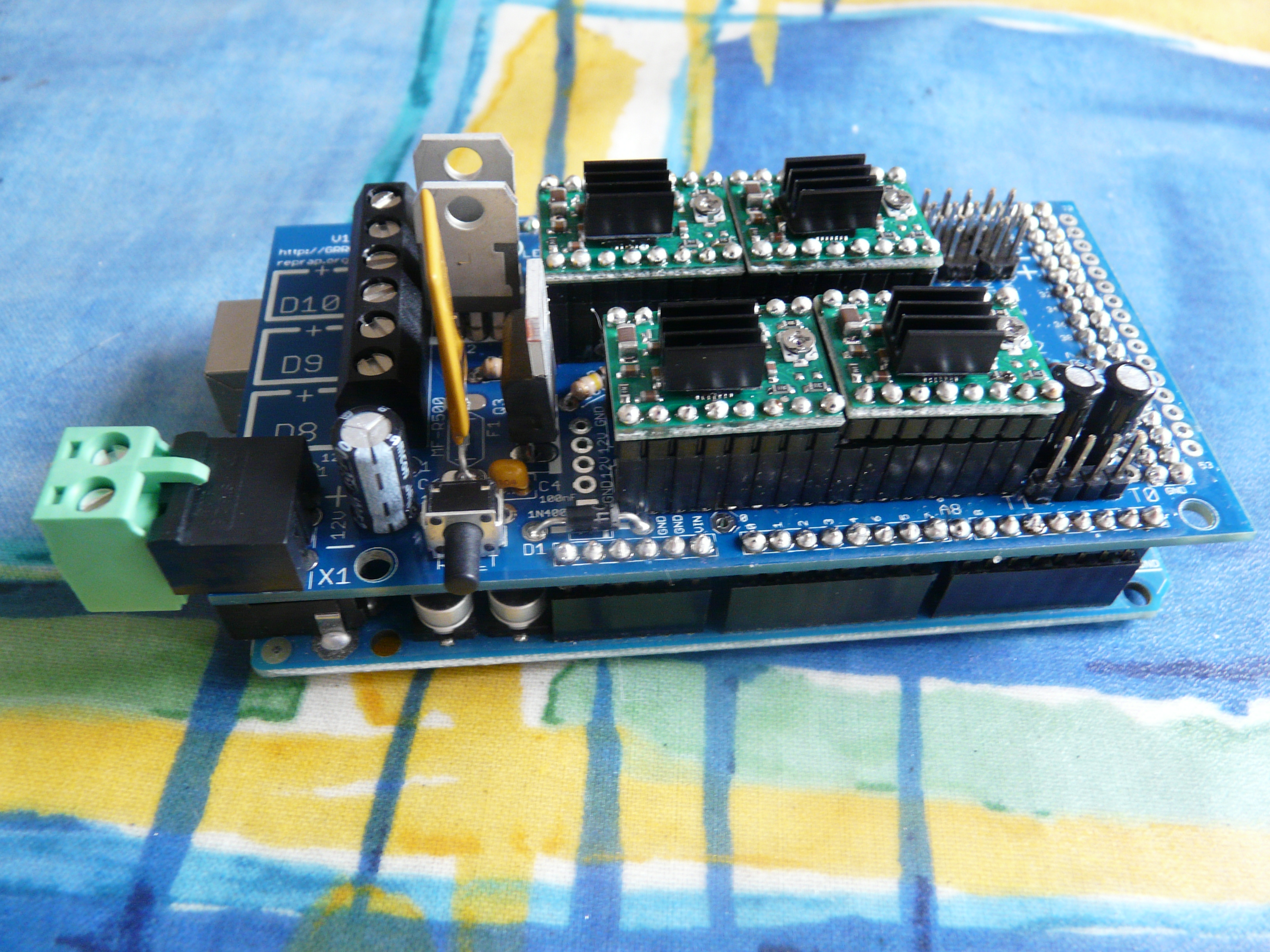 Assembled RAMPS with Pololus, Side View