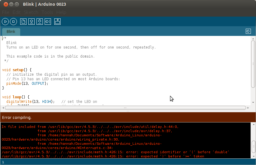 Arduino Compile Error