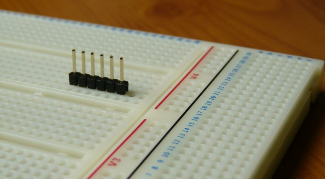 Breadboarding with double sided header