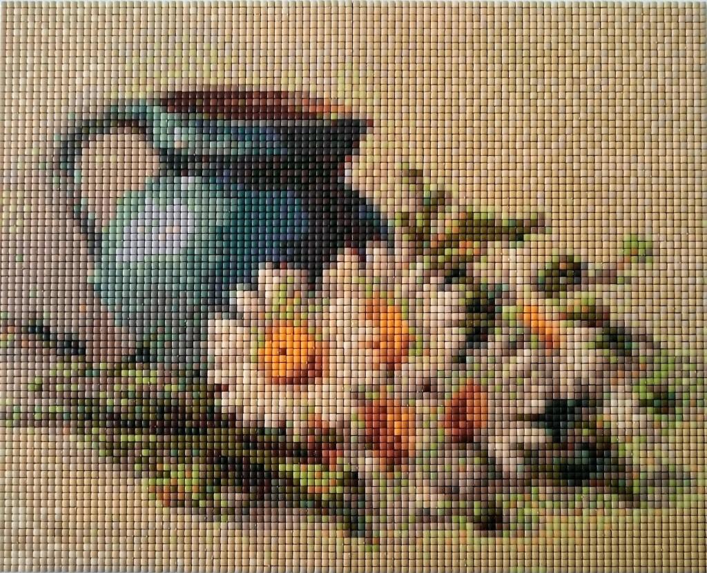 Daisies Pixel Mosaic
